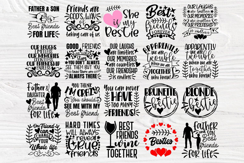 Friends Svg Cut Files, Friendship Svg Bundle, Shirt Designs example image 4