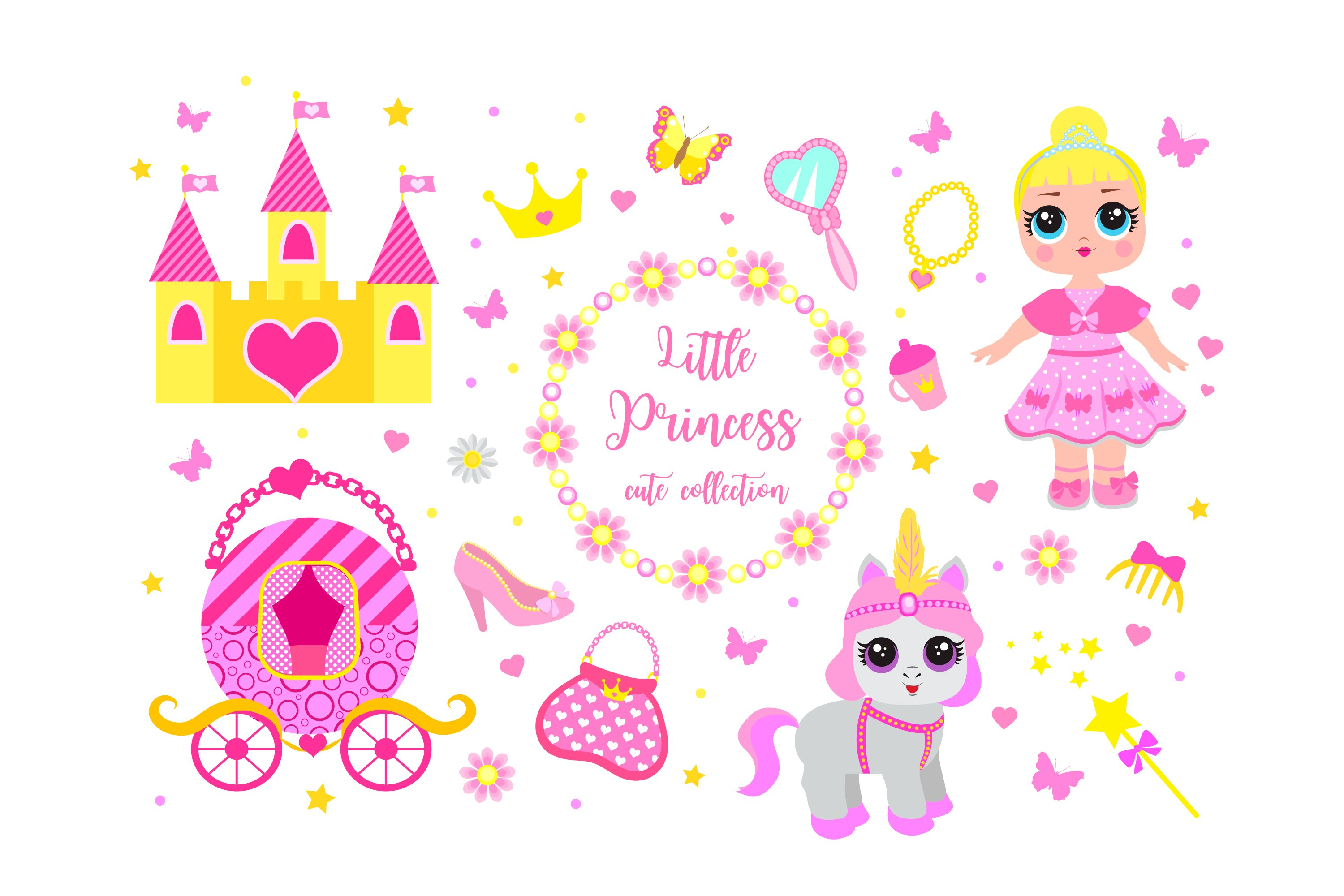 Set of cute little princess example image 1