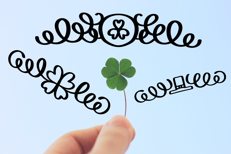 Lucky Dingbats - A Dingbat St Patrick's Day Font example image 2
