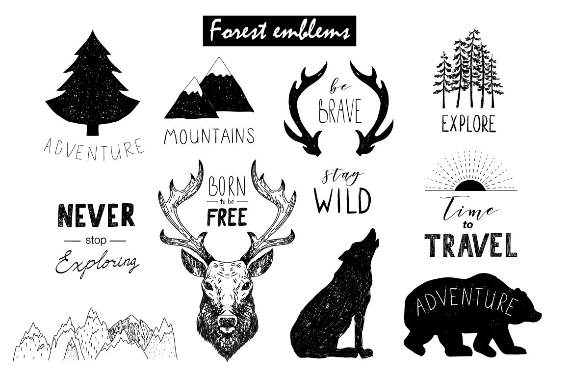 Wild Forest graphic pack example image 5