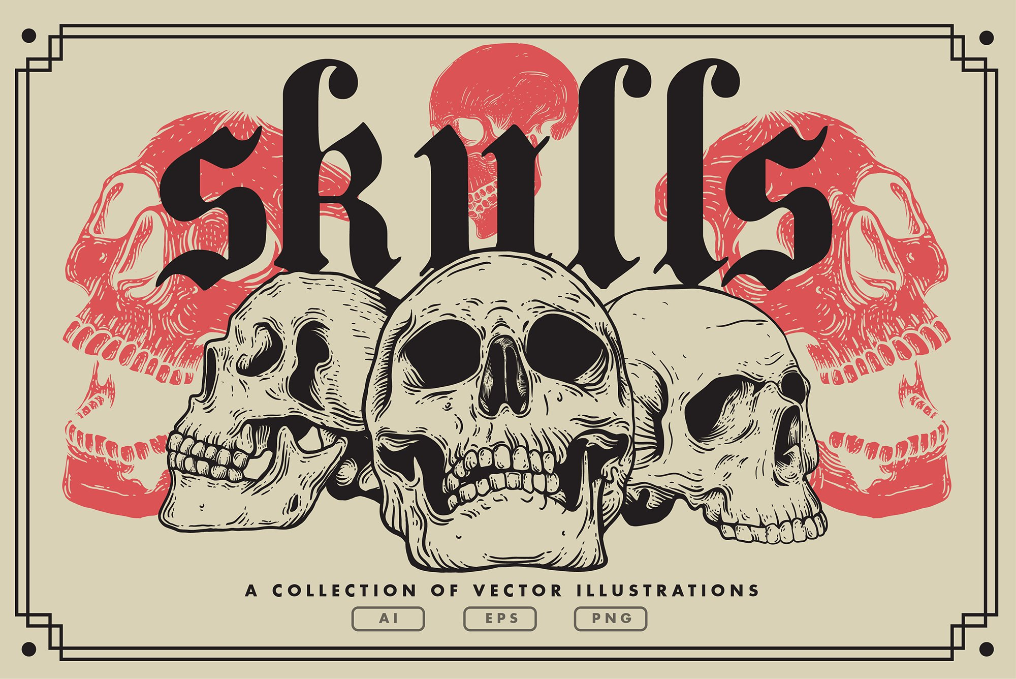 Vector Skulls | Illustration set example image 1