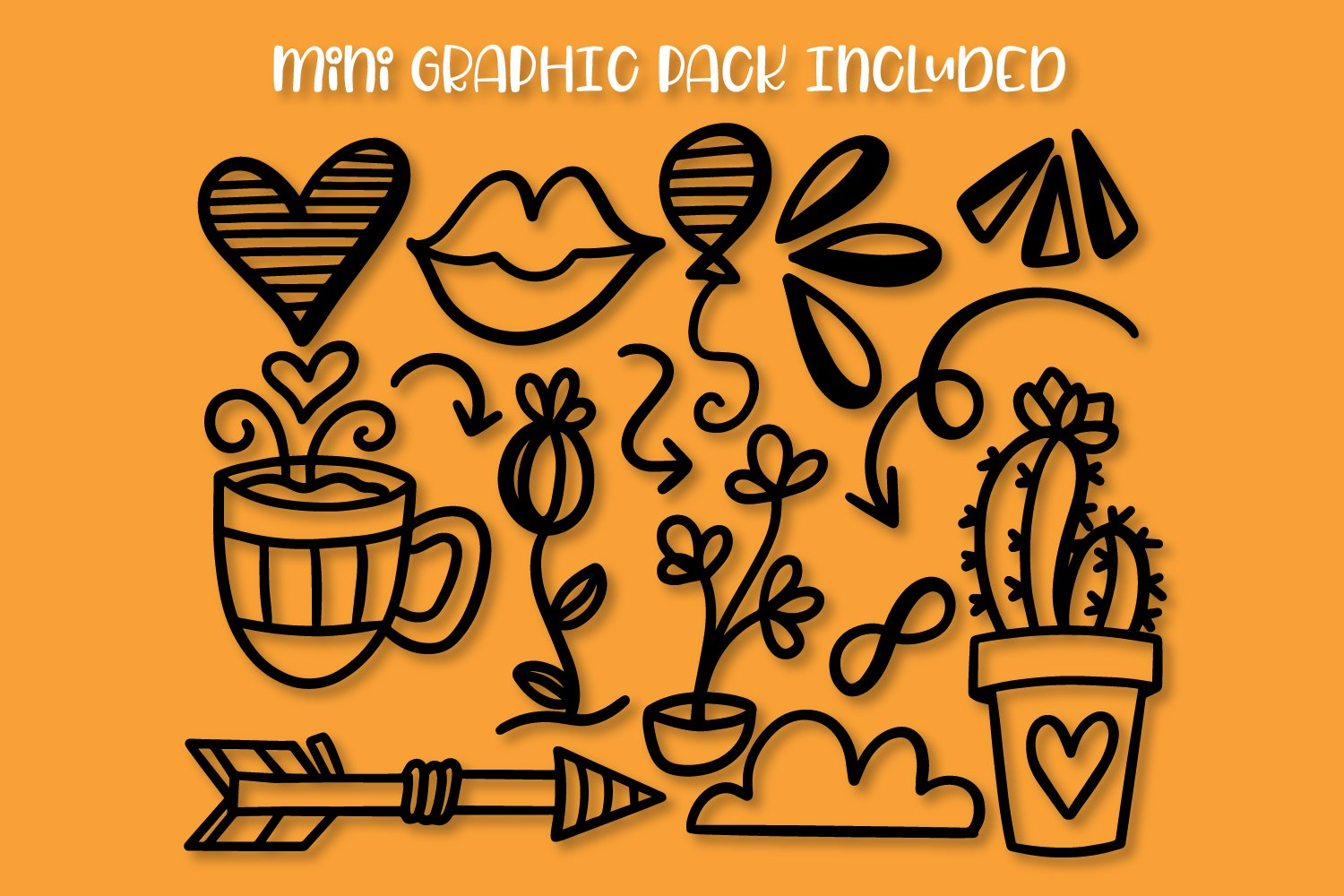 Lilly & Sawyer - Font Duo with Doodle Pack example image 7