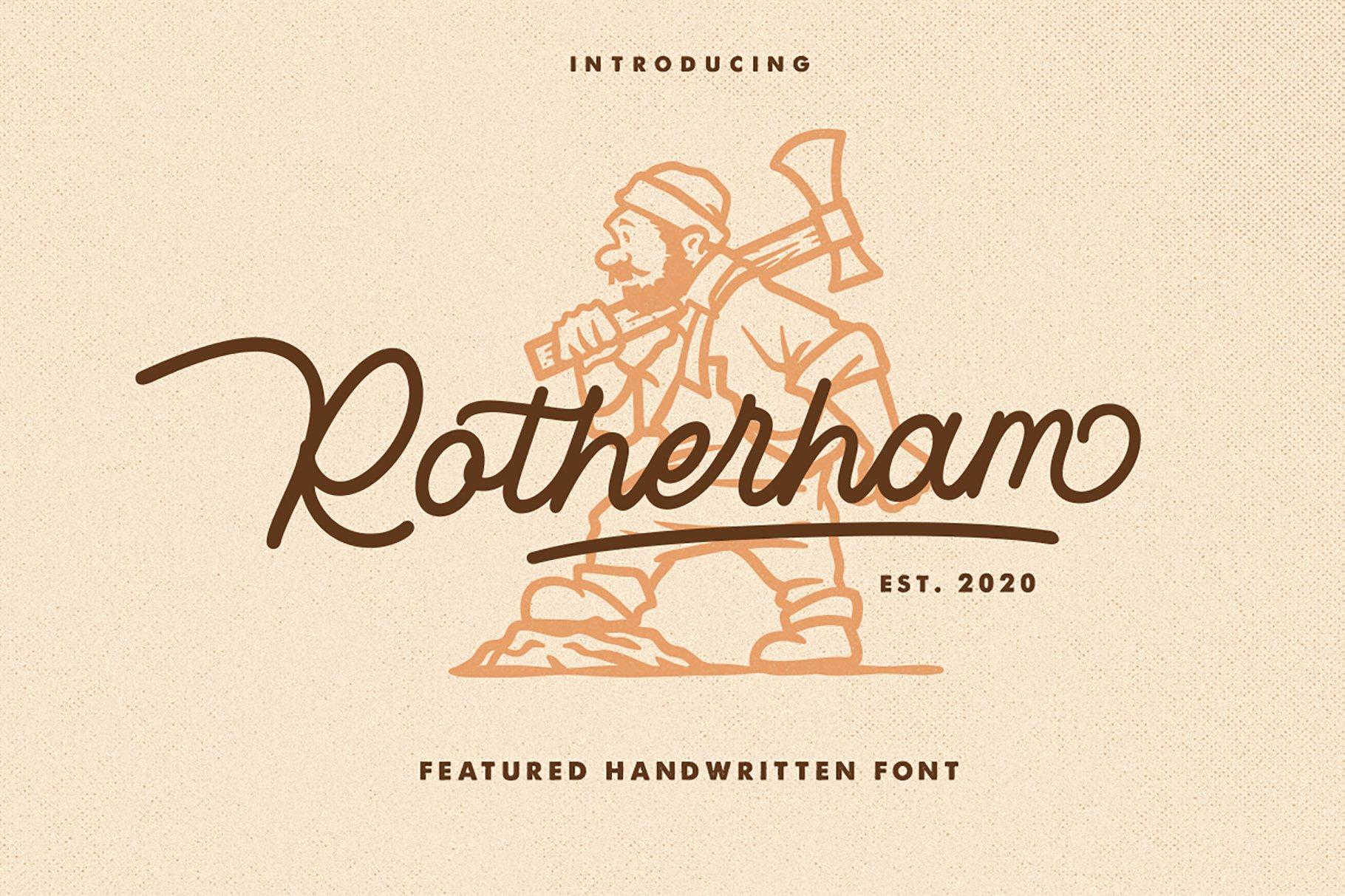 Rotherham Signature Font Typeface example image 1