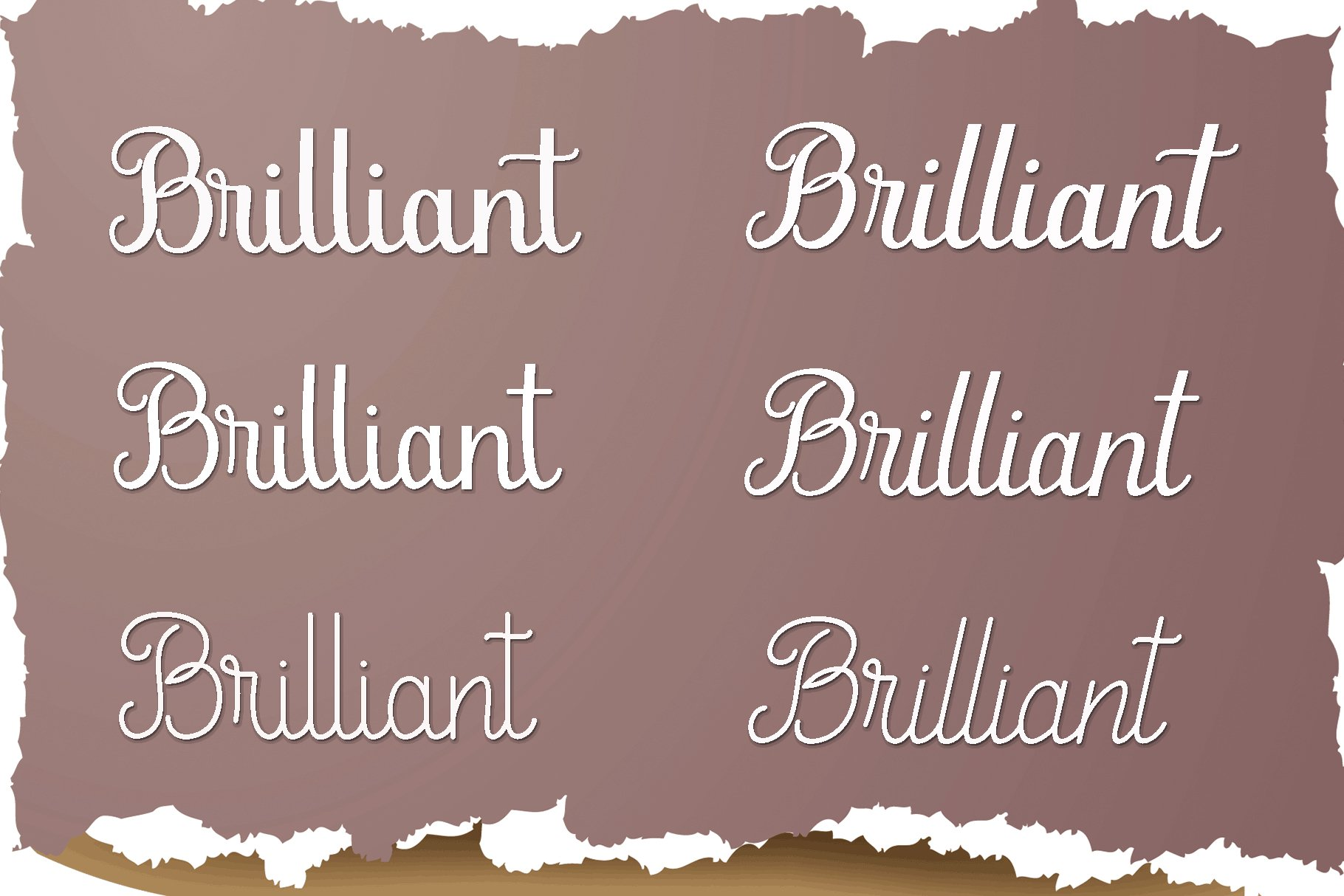 Brilliant ,6 font example image 4