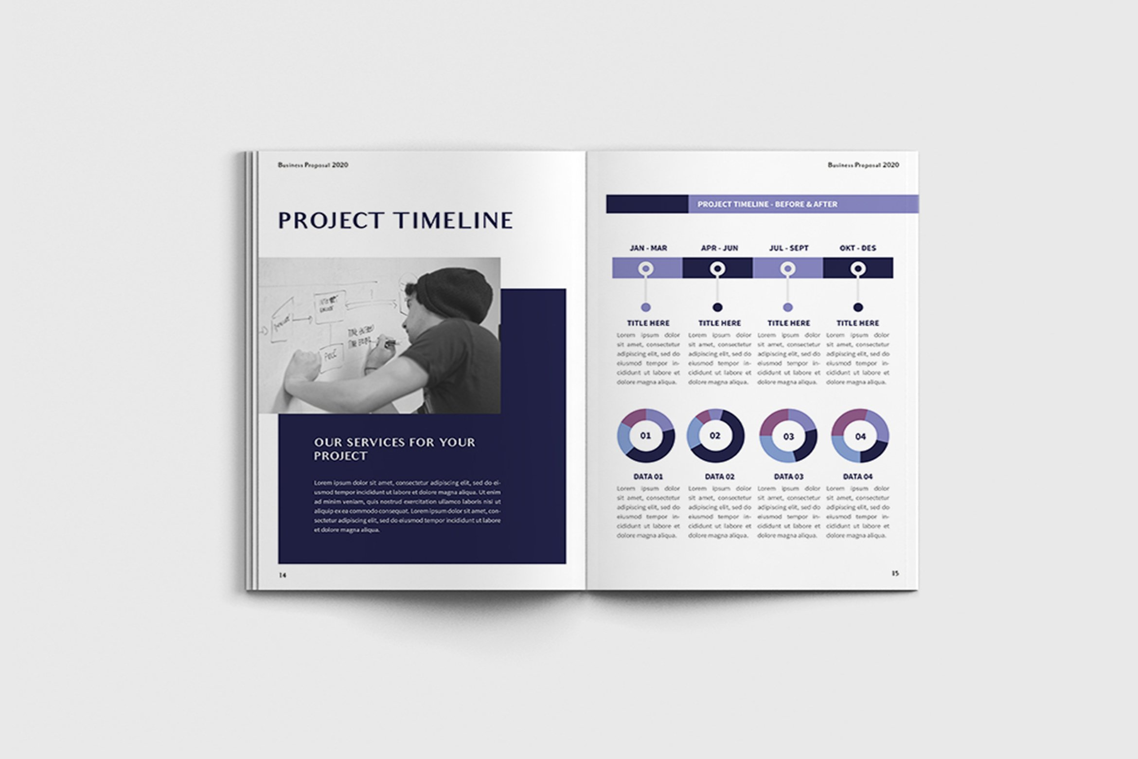 Exposina - A4 Business Brochure Template example image 6
