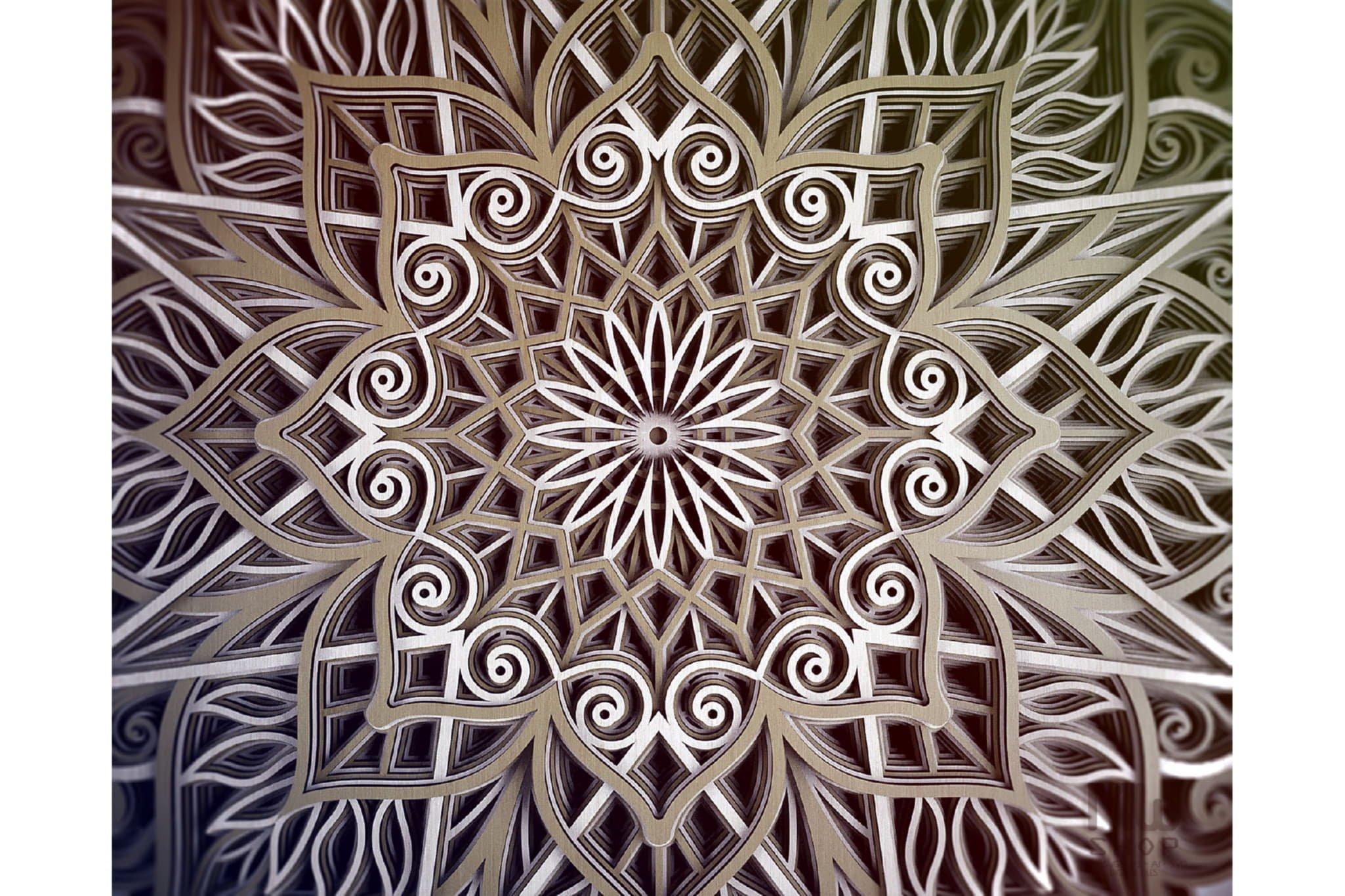 M89 - Mandala DXF Laser Cut Pattern, Flower mandala pattern example image 10
