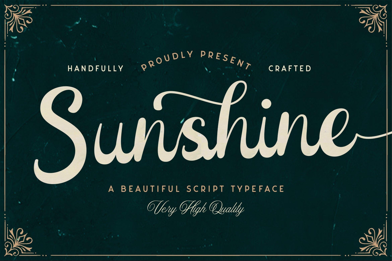 Web Font Sunshine example image 1