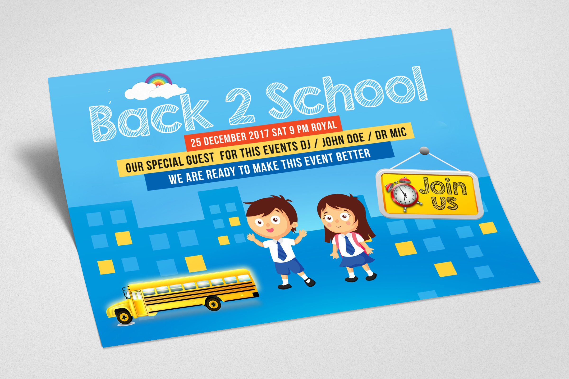 Back To School Flyer Template example image 3