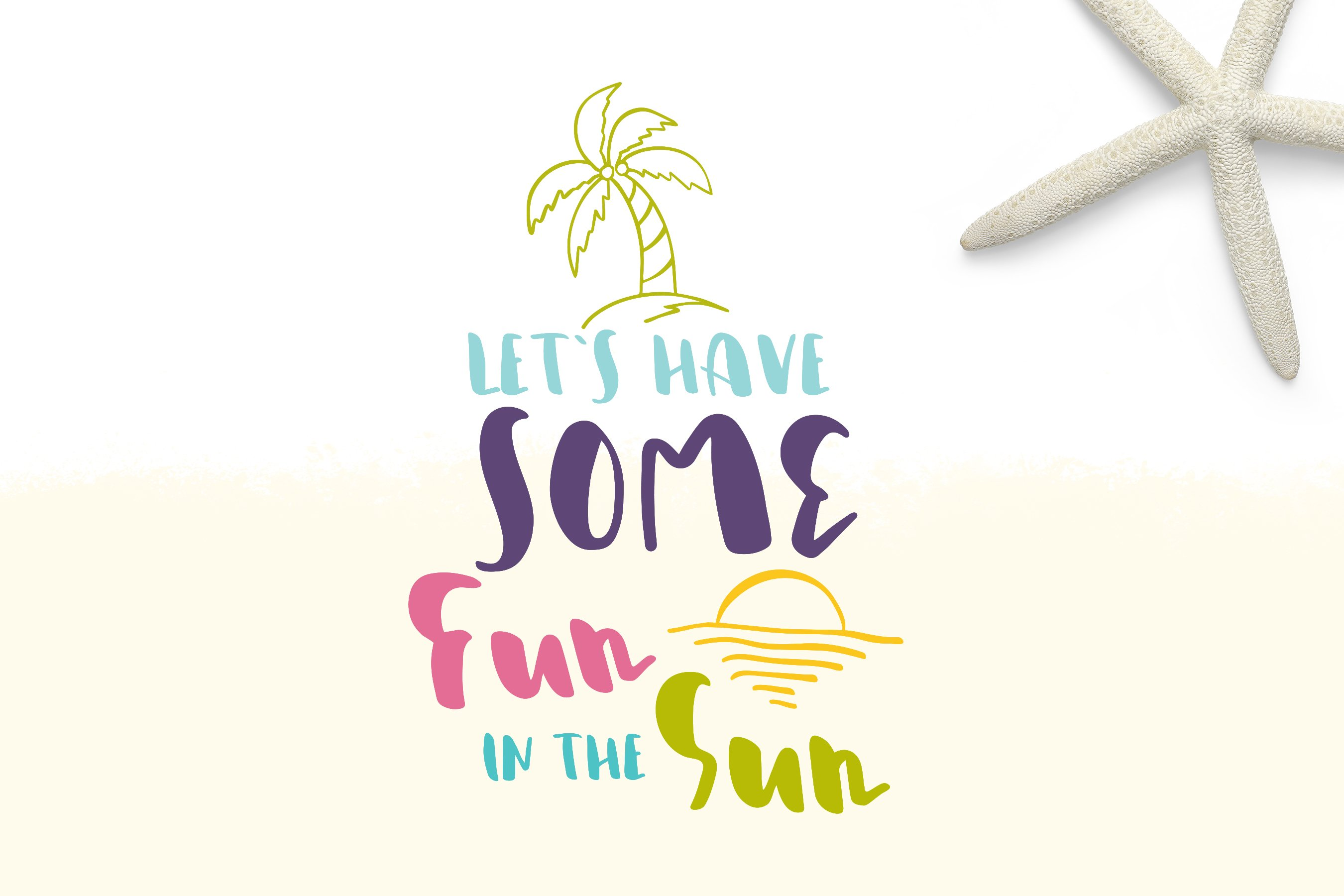 Sunshine Festival - Fun Script Font with Doodles example image 2
