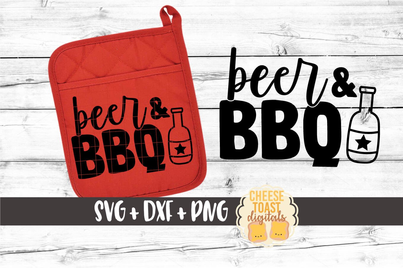Pot Holder SVG | Beer and BBQ example image 1