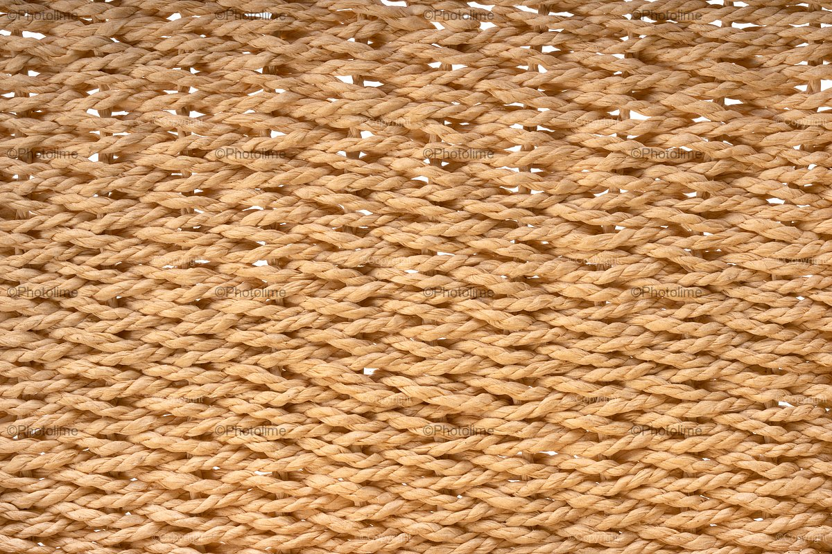 Yellow wicker basket texture. Traditional handcraft weave example image 1