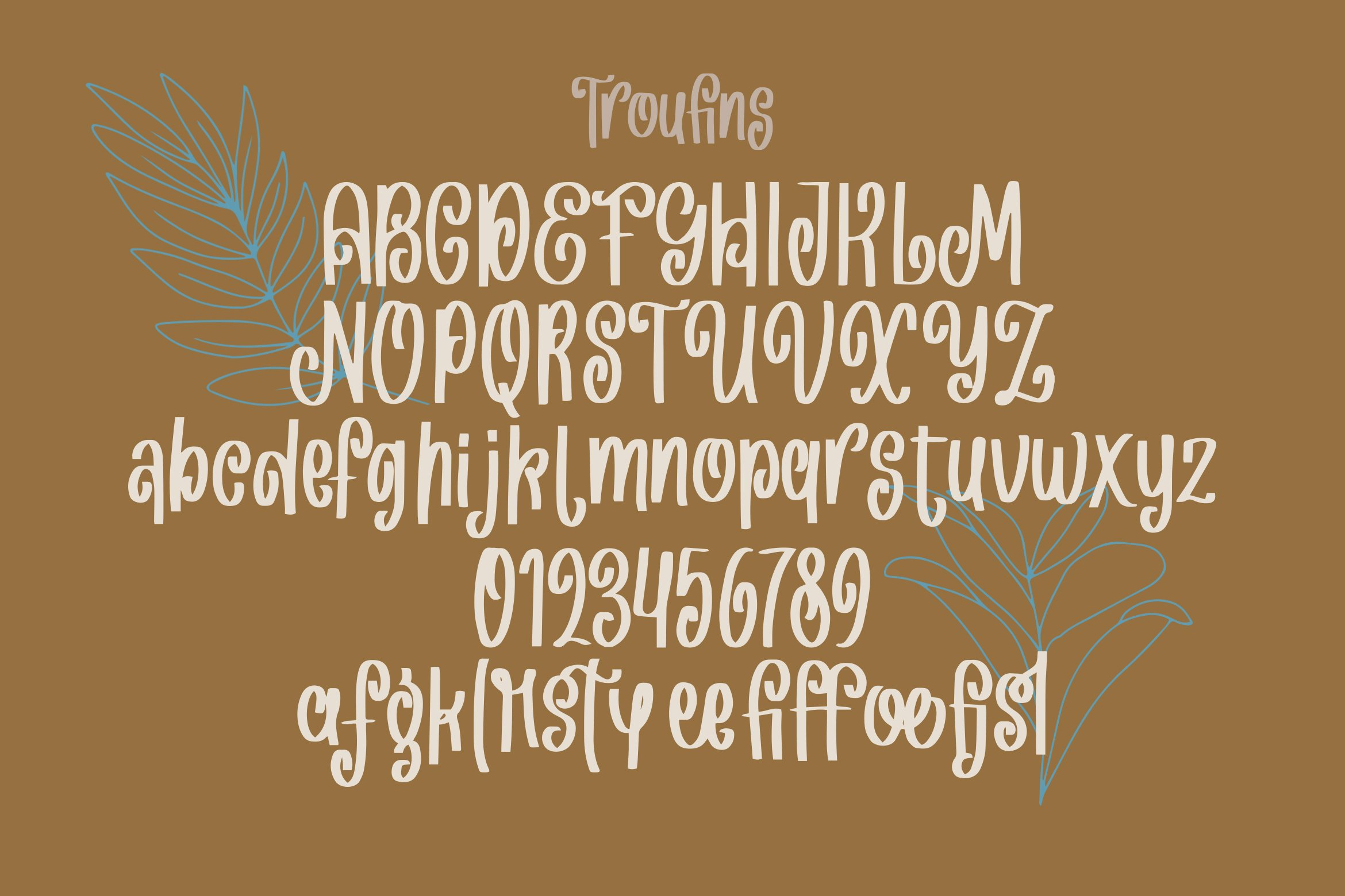 Troufins - Handrawn Funky Font example image 6
