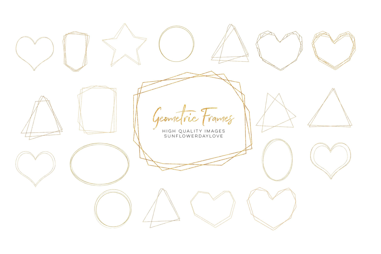 Download Gold Geometric Frame Gold Polygonal Frames Clipart 1150100 Illustrations Design Bundles