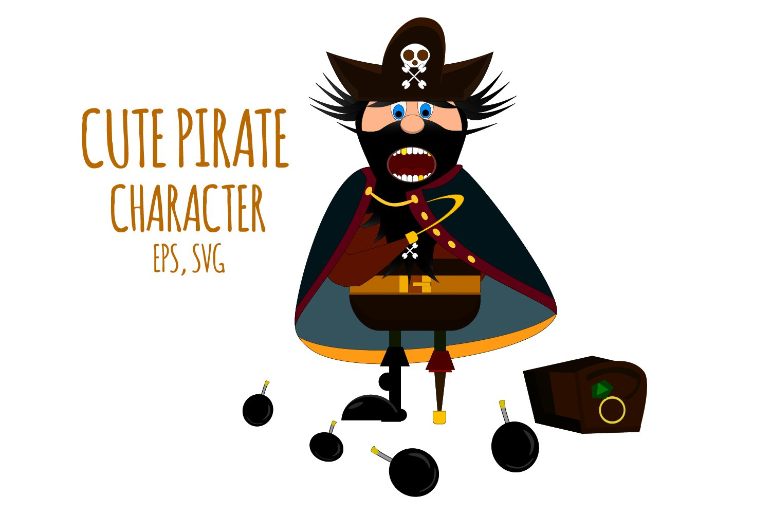 Pirate Clipart Pirate Character Pirate Graphic 416381 Illustrations Design Bundles