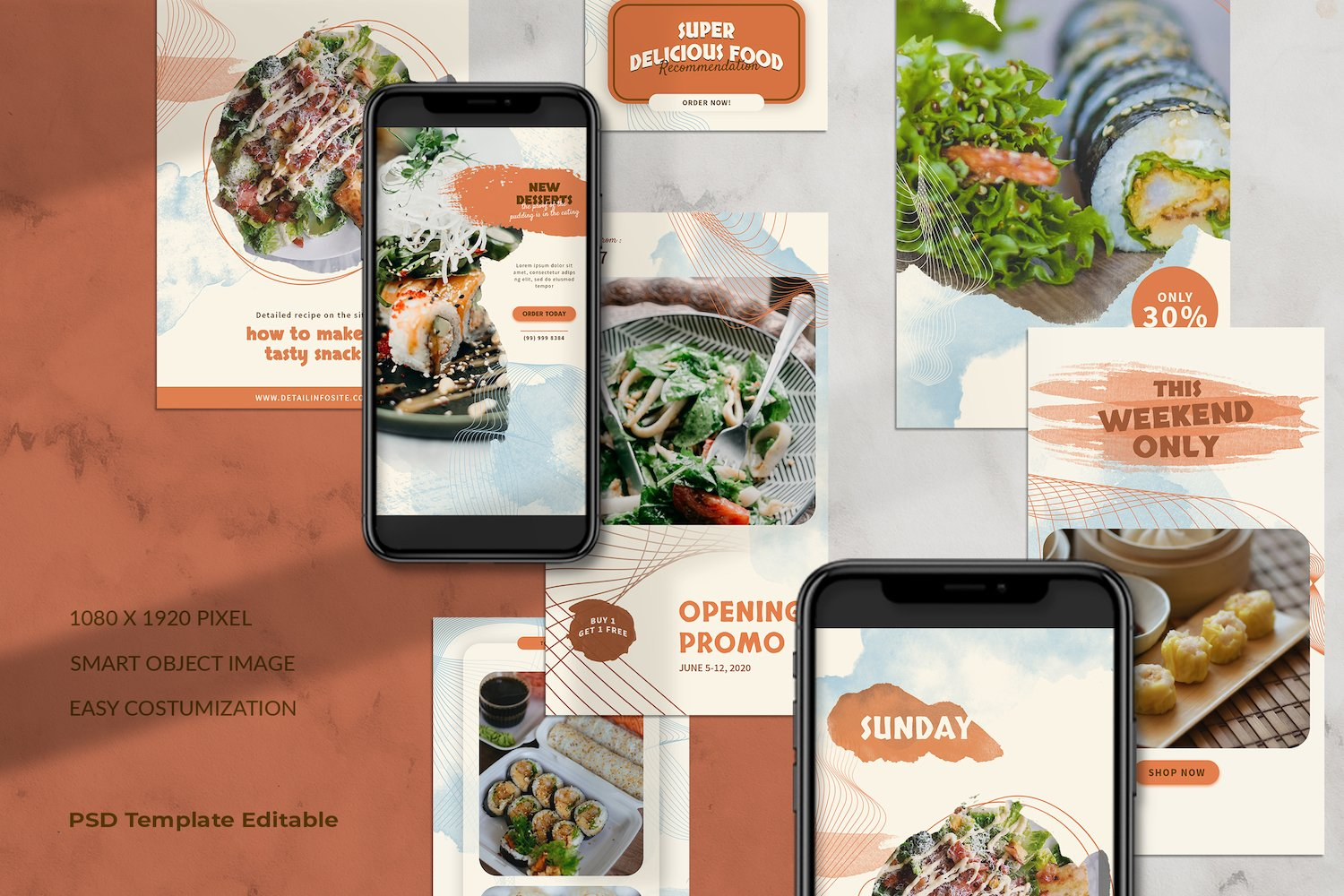 Asian Food Instagram Stories Template example image 5