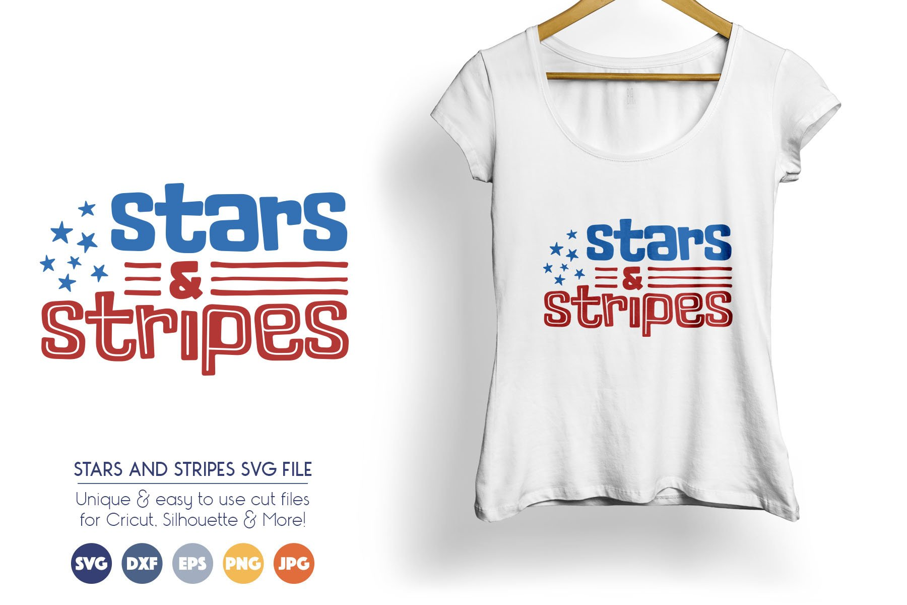 Patriotic SVG Cut Files - Stars and Stripes example image 1