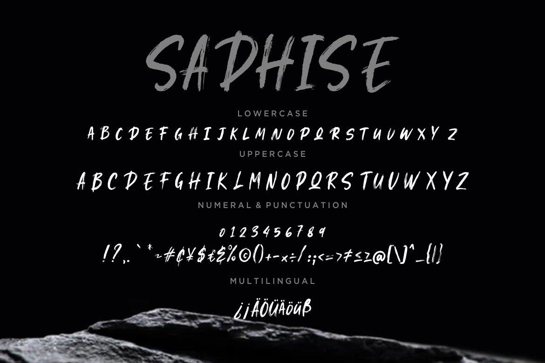 Sadhise Handdrawn Gothic Brush example image 3