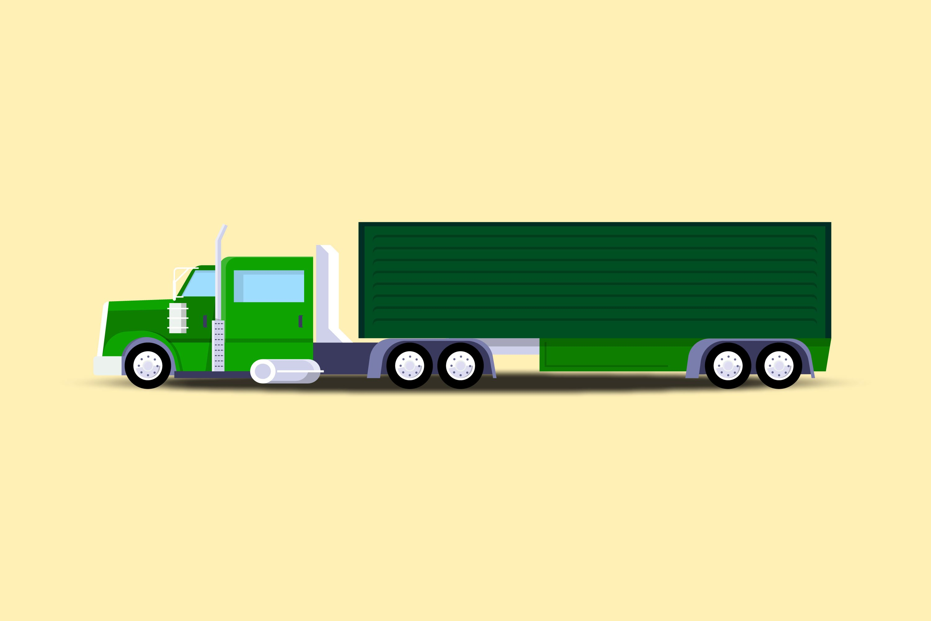 North American Truck Illustrations example image 1