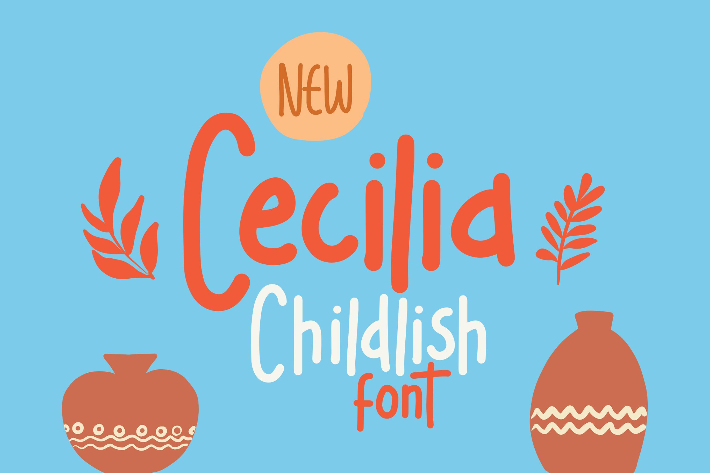 Cecilia - Childlish Fonts example image 1