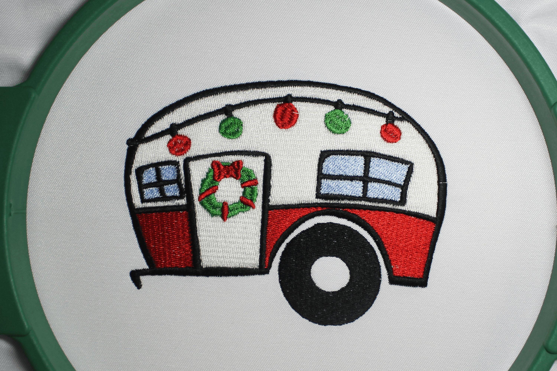 Christmas Trailer Emroidery 3 sizes example image 4