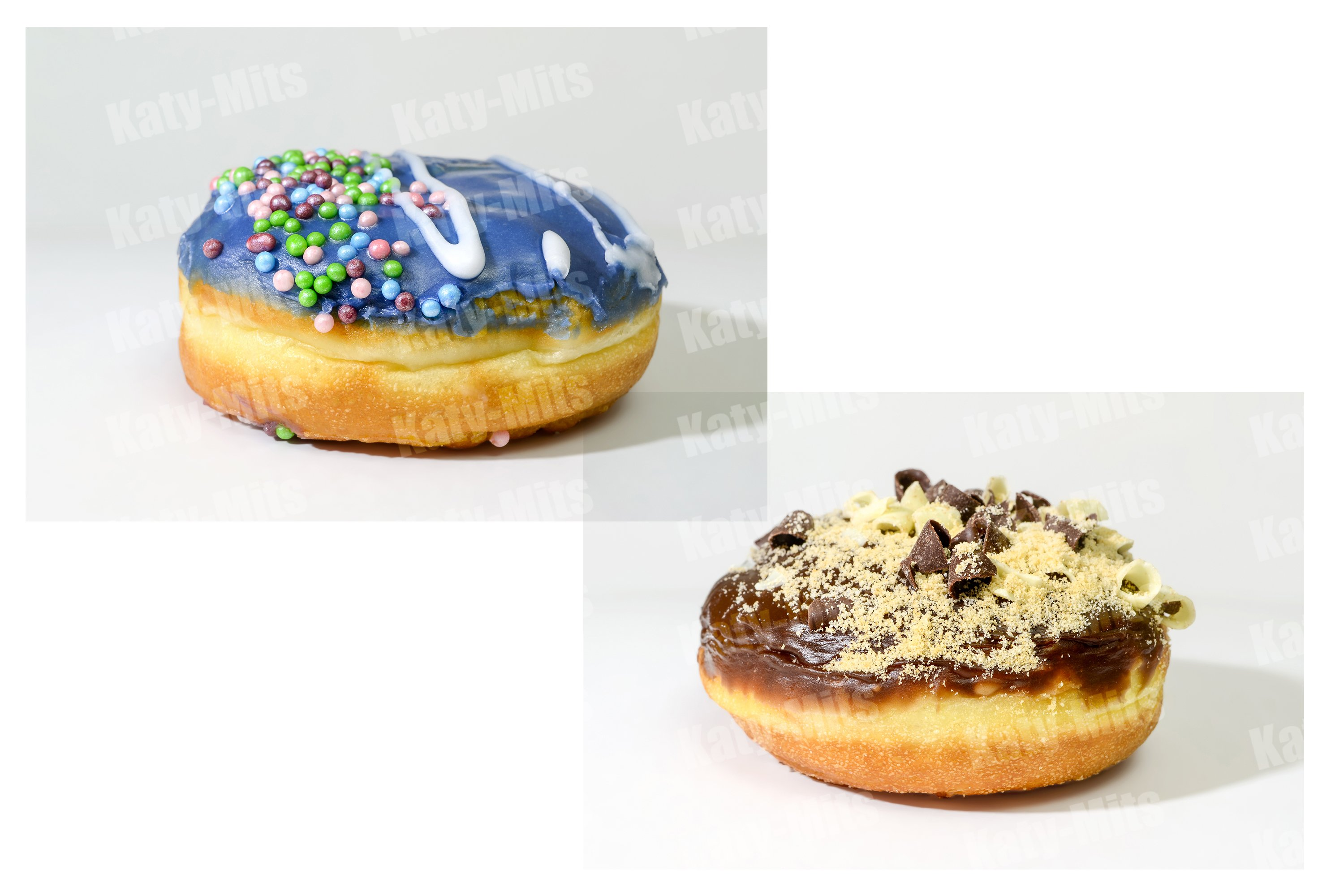 Blueberry and chocolate donut. Set example image 1