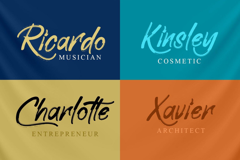 Elliot Brush Font example image 4