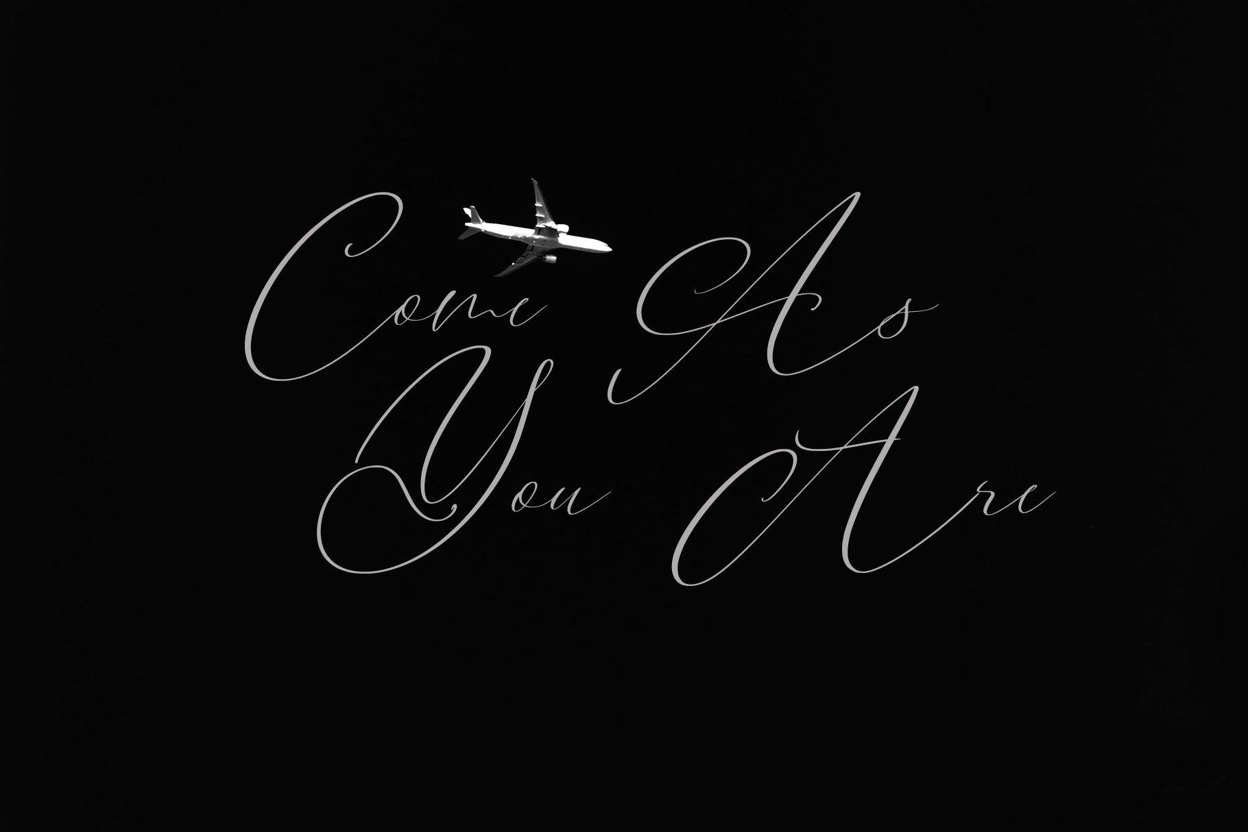 Black Cabaret Script Font & Logos example image 8