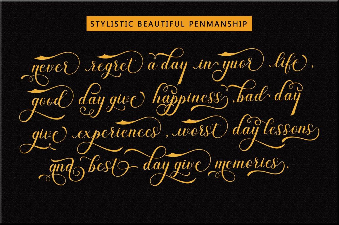 Dayton - Elegant Calligraphy example image 7