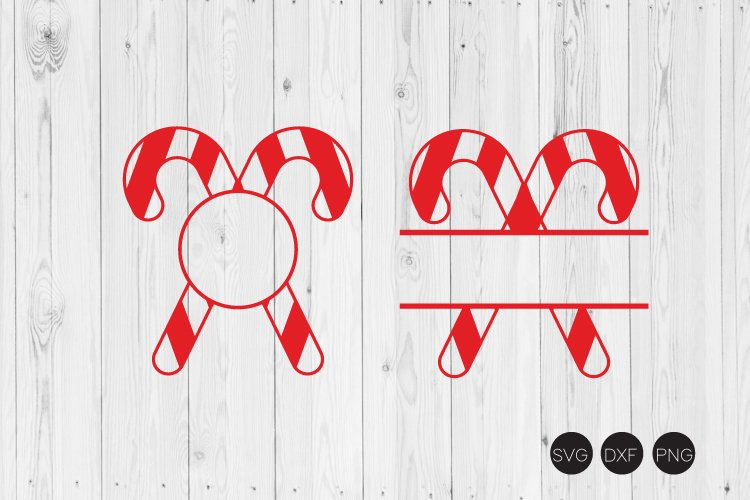 Candy Cane Monogram Svg Christmas Svg Dxf Png Cut File 181742 Cut Files Design Bundles
