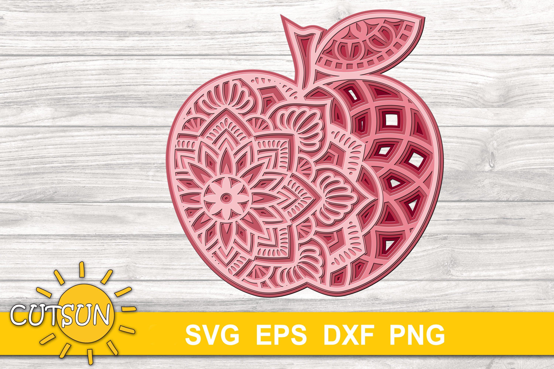 Download 3d Layered Mandala Apple Svg Cut Files For Crafters 5 Layers 679008 Cut Files Design Bundles