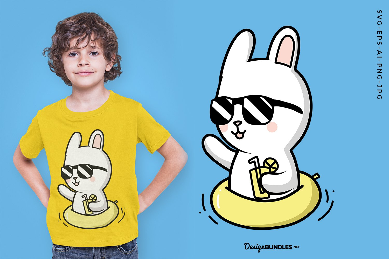 Summer White Rabbit example image 1