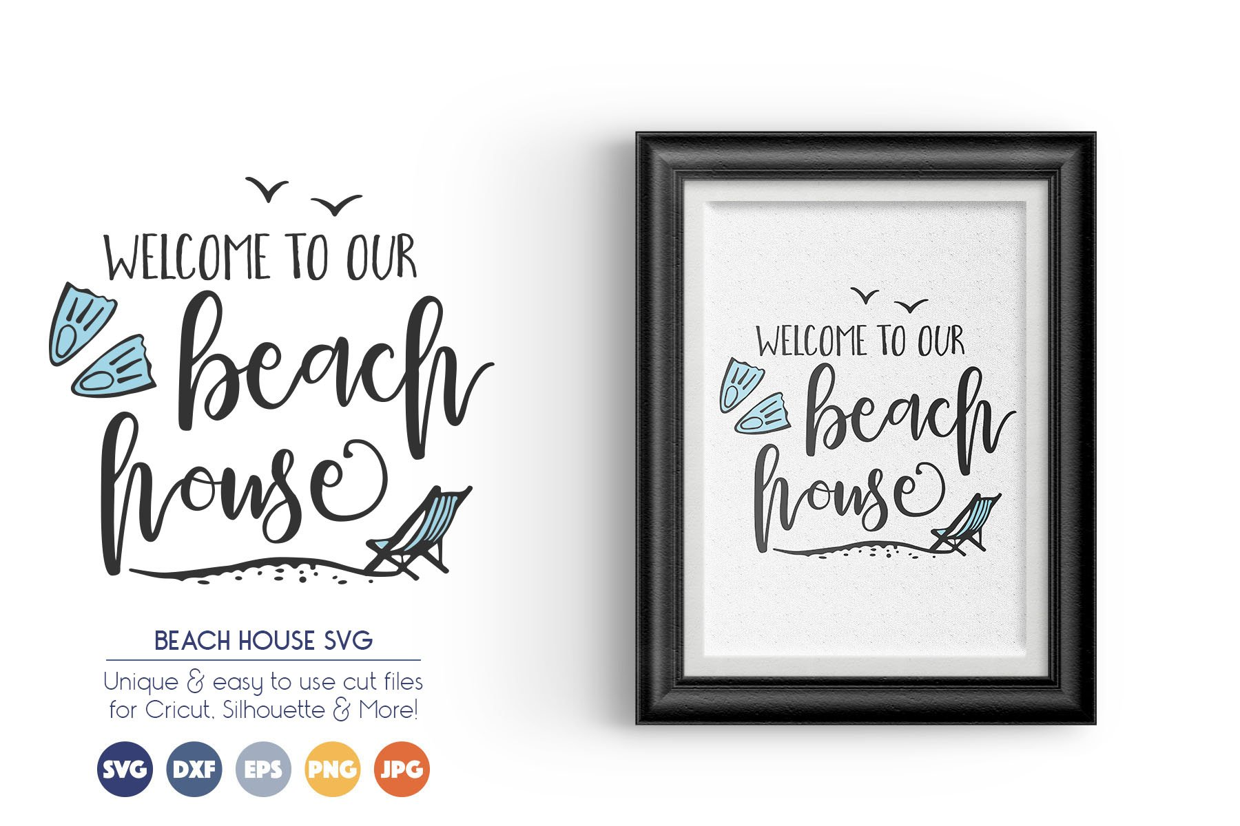 Welcome to Our Beach House - Summer SVG Cut Files example image 1