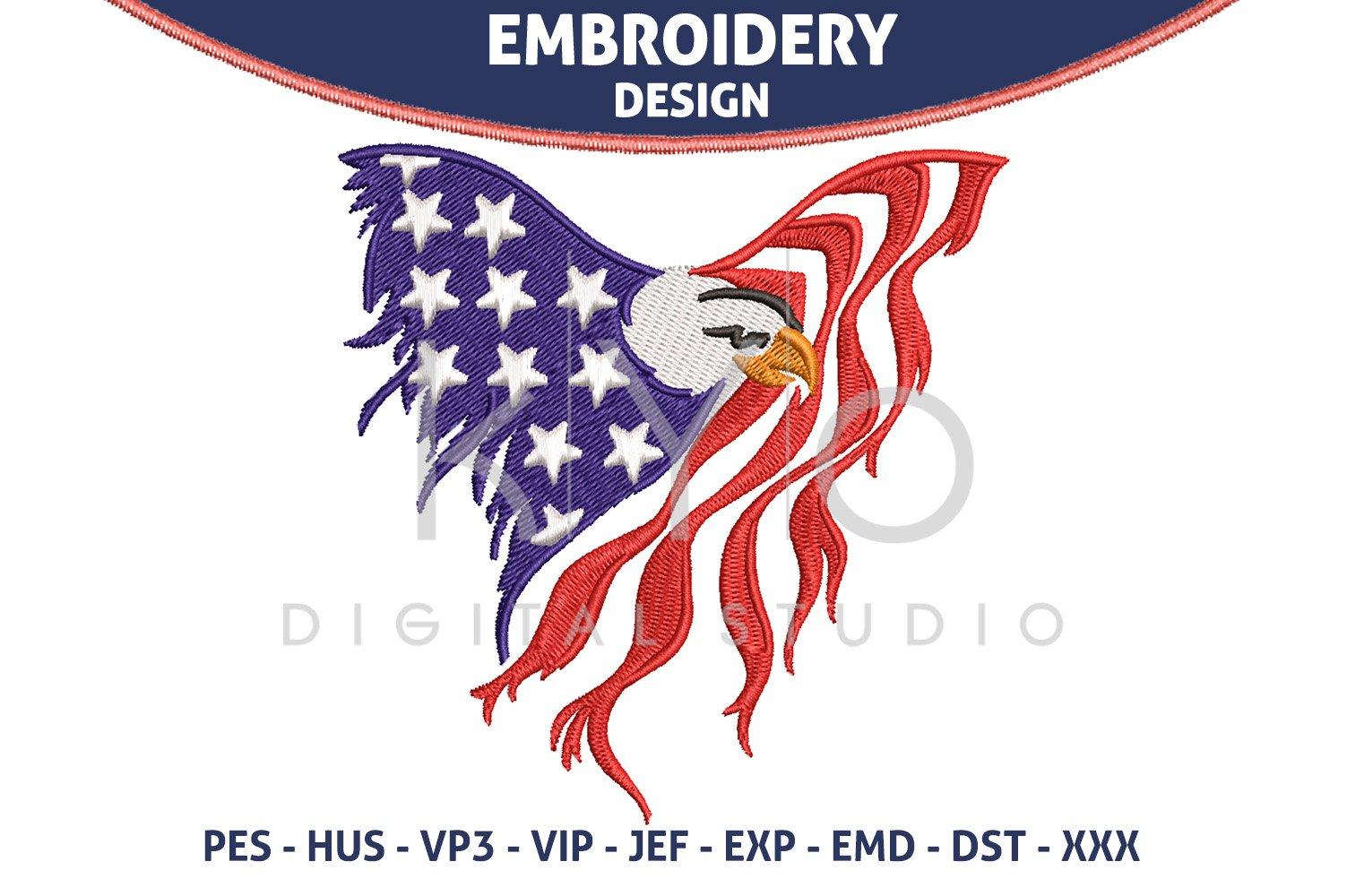 American Flag Eagle Embroidery Design 714664 Designs Design Bundles