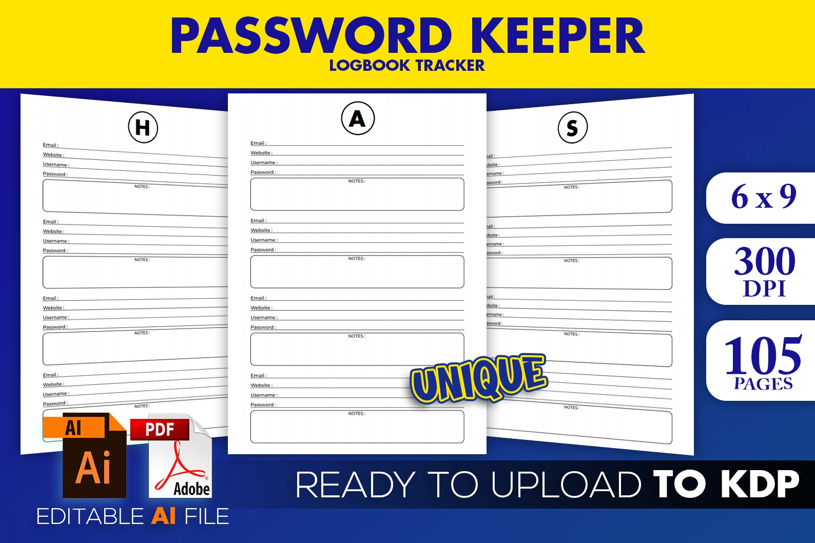 Password Logbook KDP Interior Ready to Upload example image 1