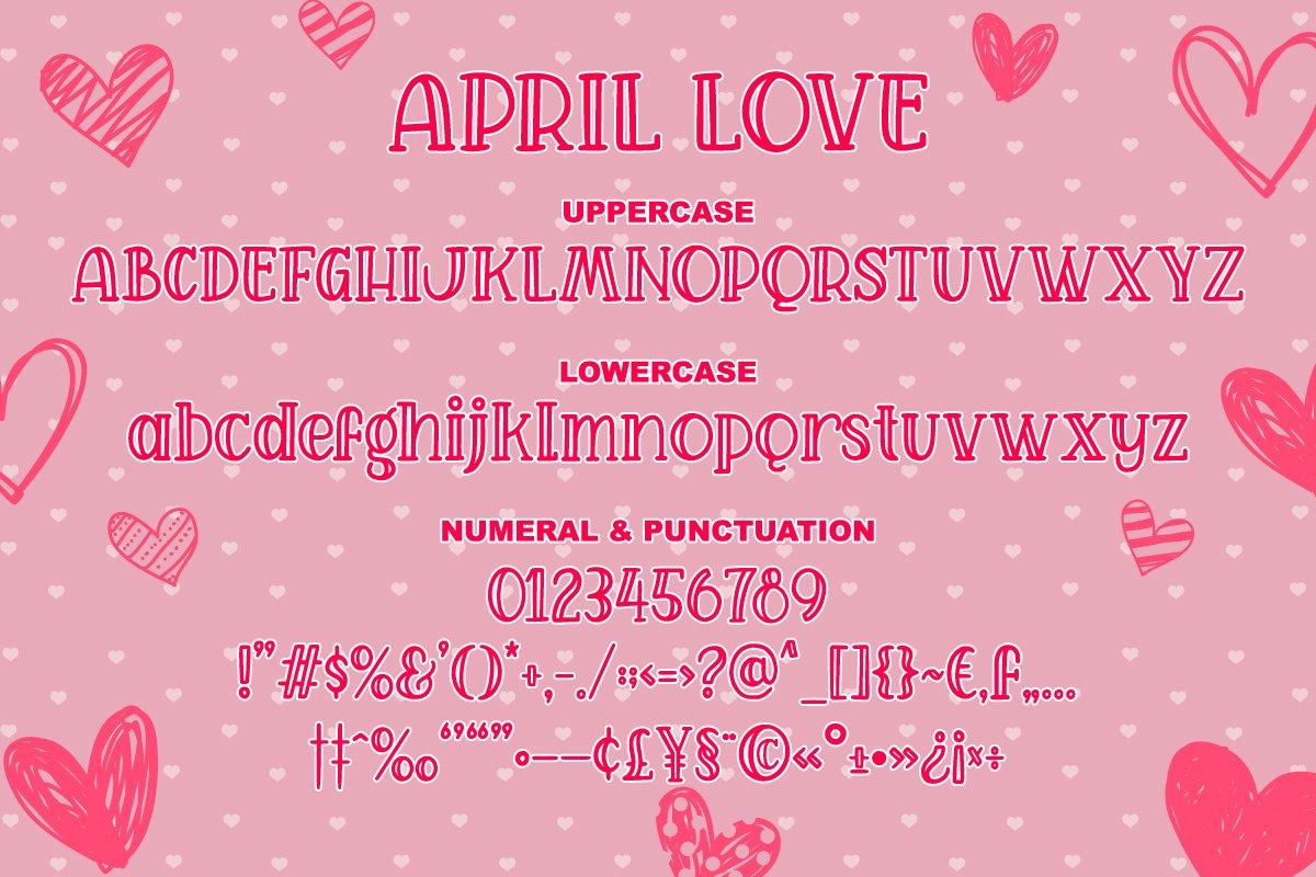 April Love - Handwritten Font example image 8
