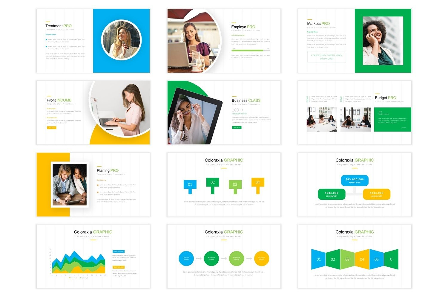 Coloraxia Template - Powerpoint example image 3