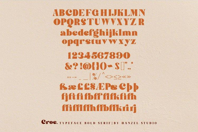 Croc. Typeface Bold Serif example image 11