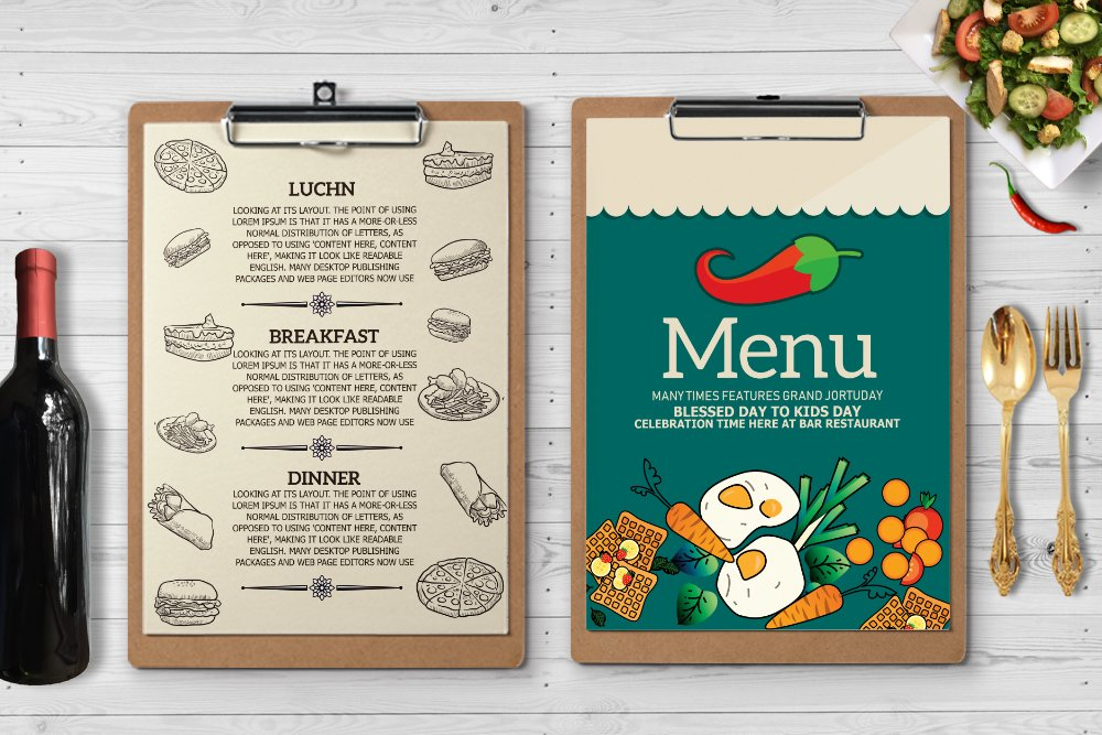 Restaurant Food Menu Template example image 3