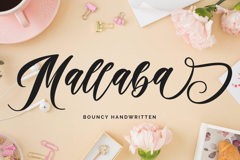 Mallaba - Bouncy Handwritten example image 1