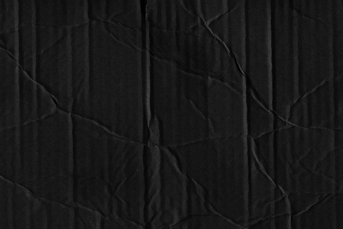Black Cardboard Textures 3 example image 7