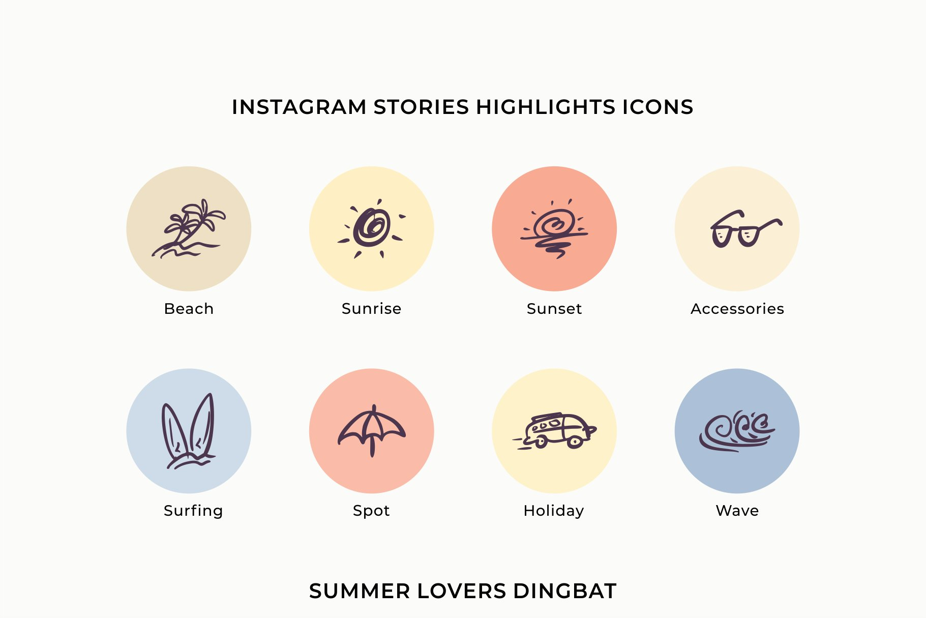 Summer Lovers with Alternate and Dingbat example image 2