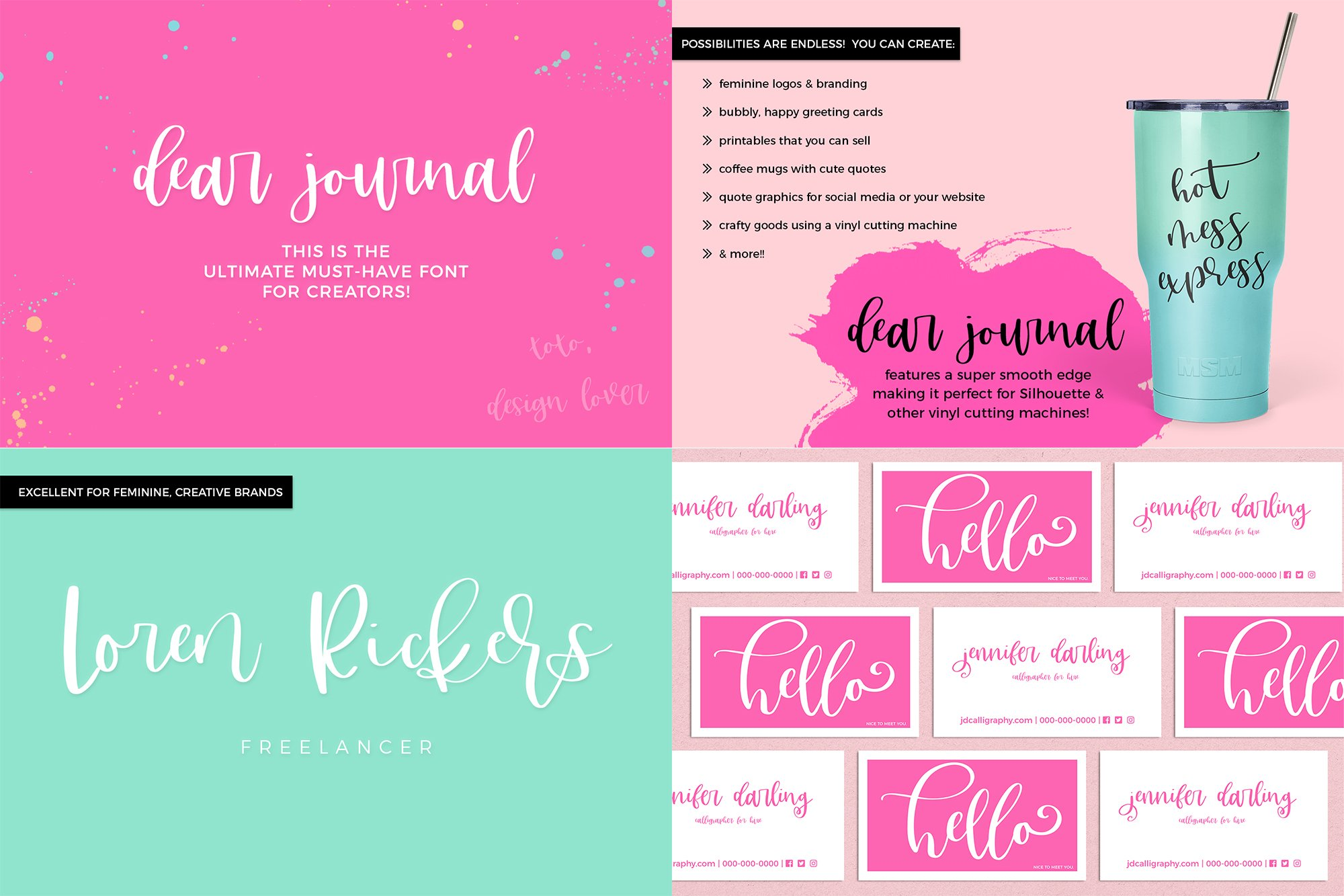 The Chic Calligraphy Font Bundle example image 5