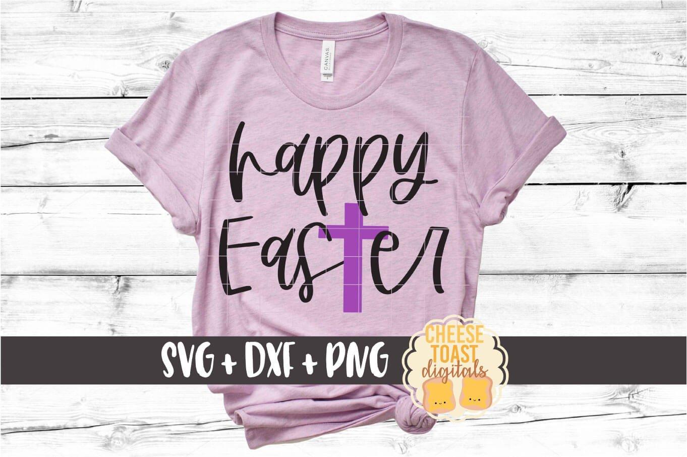 Happy Easter Christian Cross Svg Png Dxf Cut Files 492602 Cut Files Design Bundles