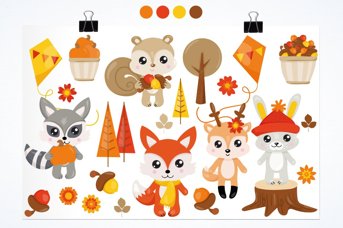 Fall Animals Graphics and illustrations, vecto example image 3