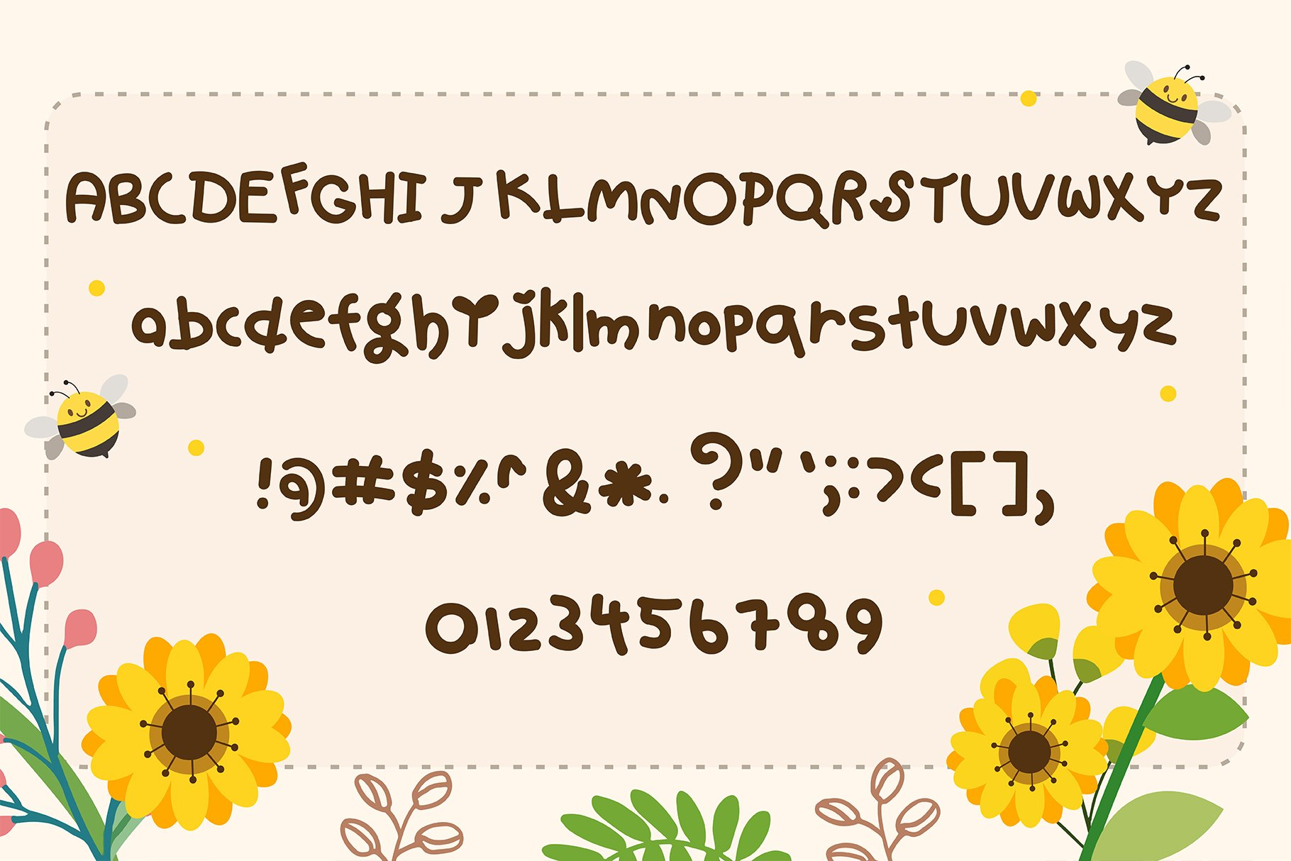 Hello spring Handwritten- Cute Baby font Kawaii style! example image 5
