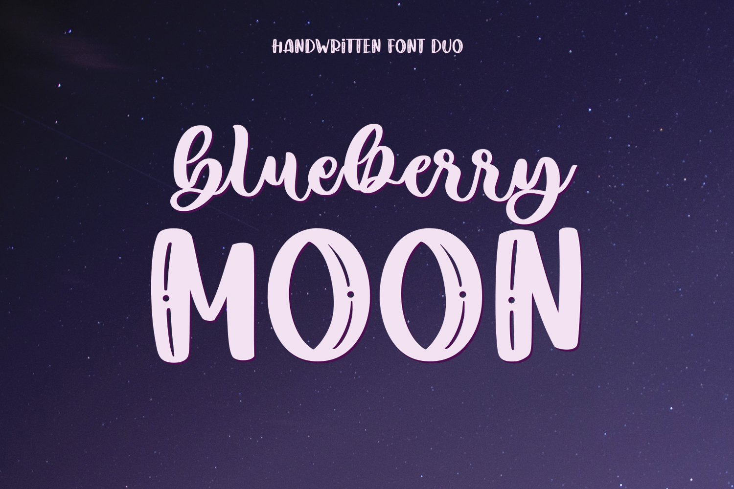 Blueberry Moon Font Duo example image 1