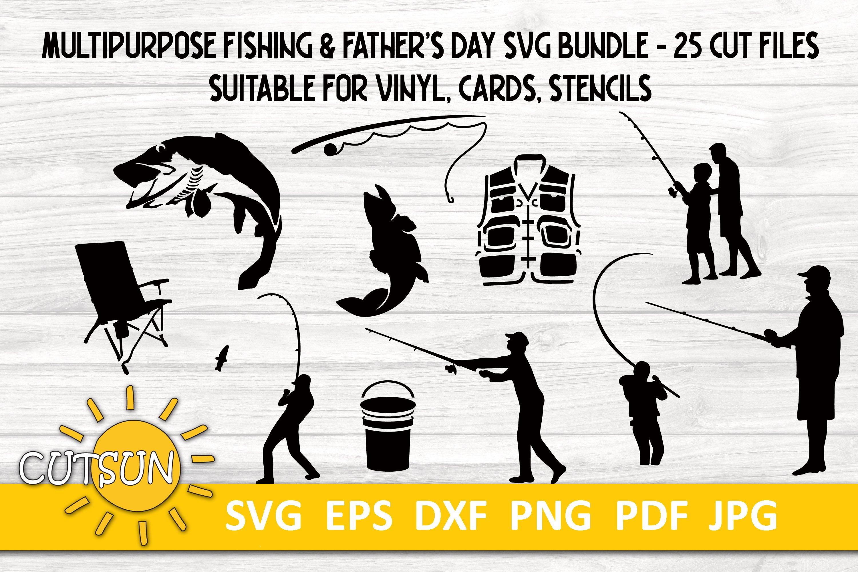 Download Fishing Clipart Bundle Suitable For Stencils Stencil Svg 1375969 Cut Files Design Bundles