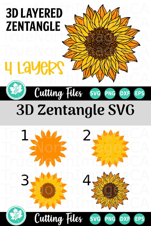 1951+ Free Layered Sunflower Svg – SVG Bundles
