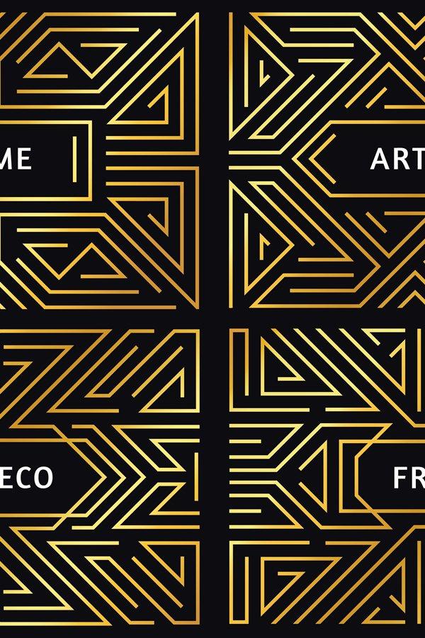 Download Art Deco Frames Vintage Golden Line Border Decorative Gold 997824 Elements Design Bundles