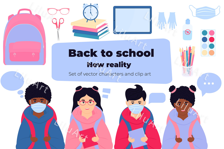 Download Back To School Set Characters And Clip Art 866291 Illustrations Design Bundles